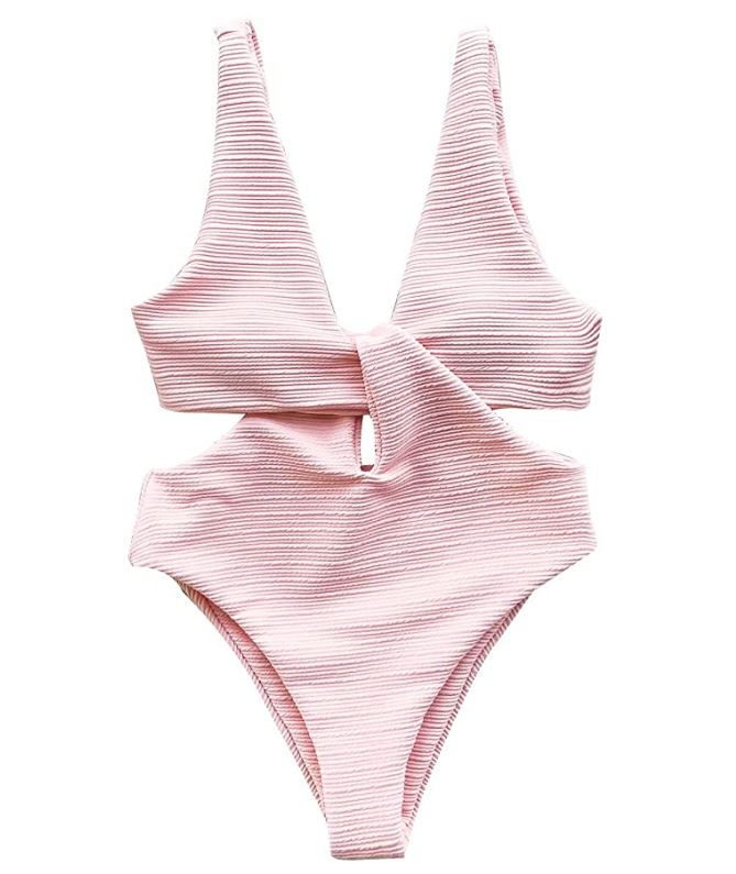 Cupshe pink one piece swimsuit amazon