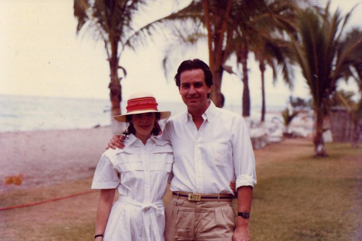 The author and Steve on vacation in Cancun, Mexico, in 1983.