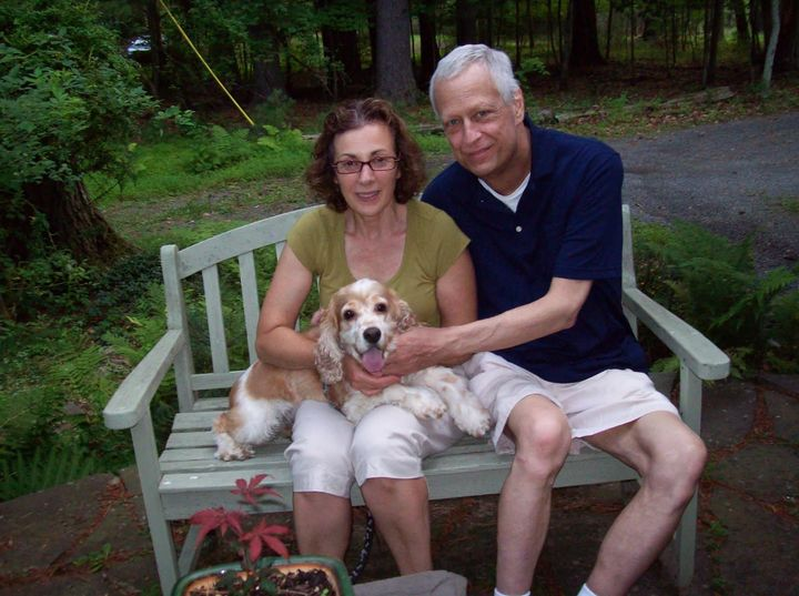 The author, Steve and Cassie, shortly after Steve's chemo and radiation treatments in Woodstock, New York, in 2012.