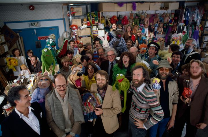 """The cast and crew of """"The Muppet Show"""" in 1980."""